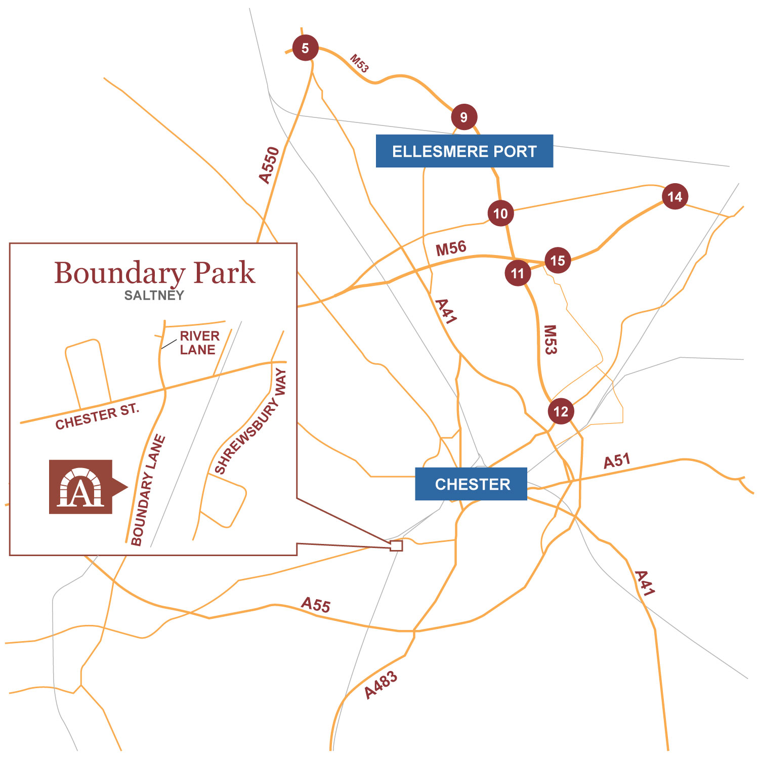 Boundary Park location map